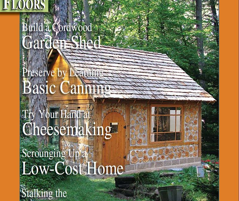 Cordwood Cottage Garden Shed in Green Bay, Wisconsin