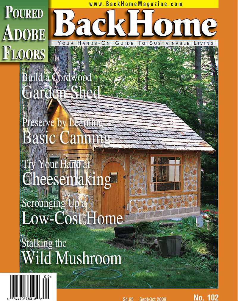 The cover of Backhome Magazine about the Barchacky Cottage Garden Shed.