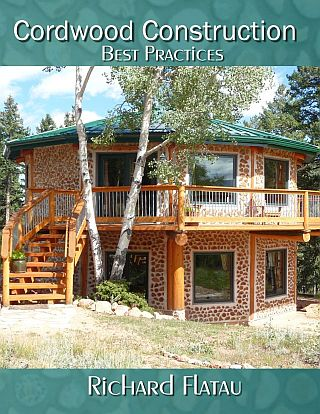 Cordwood Construction Best Practices available in print & ebook at www.cordwoodconstruction.org online bookstore.