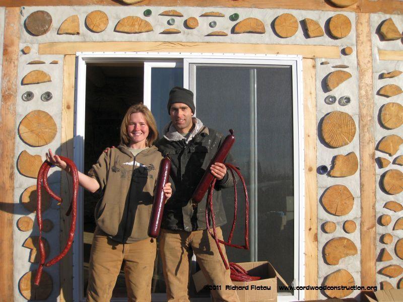 Alaska cordwood Chelsea & Mark 2011