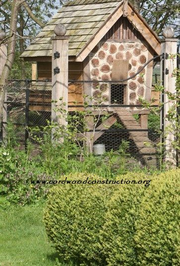 Cordwood chicken coop from Pinterest Lisa Mullins