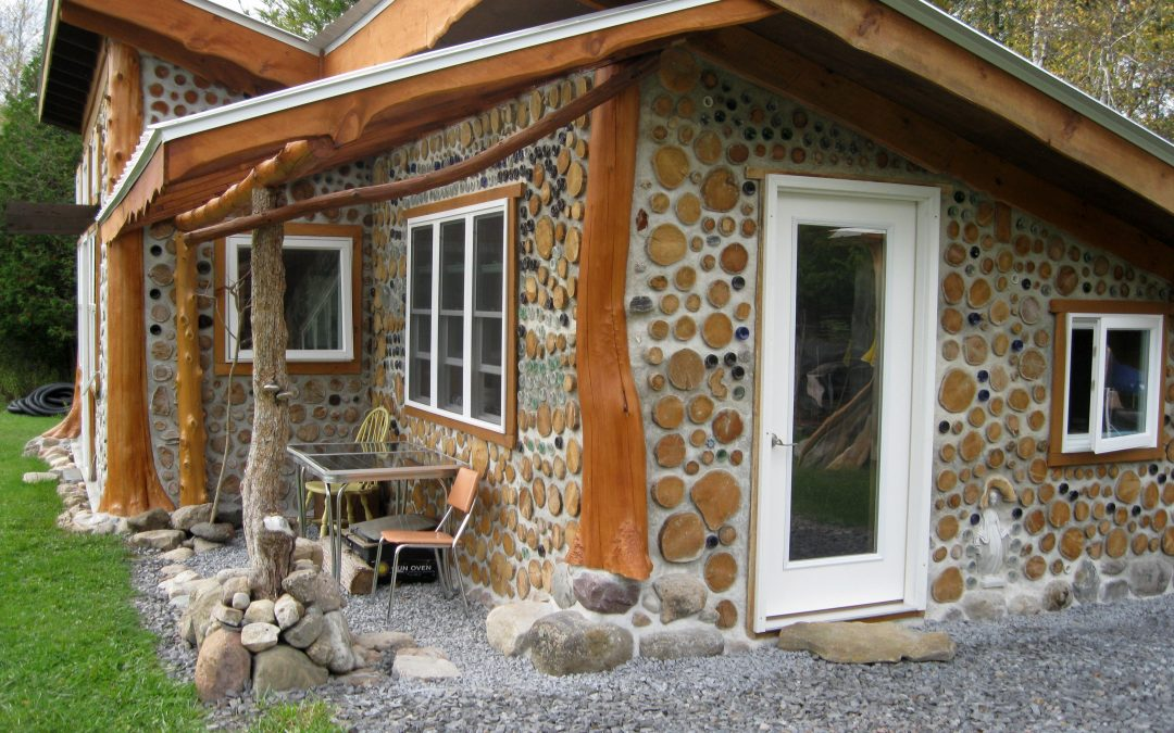 Cordwood Construction by Tom Huber in Michigan & New York