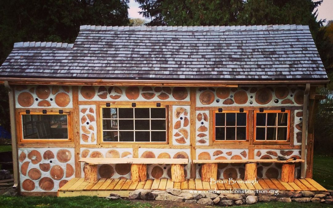 Cordwood Tool Shed uses Wabi-Sabi