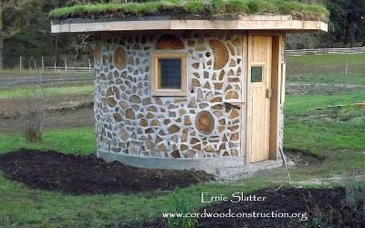 Cordwood Sauna in British Columbia