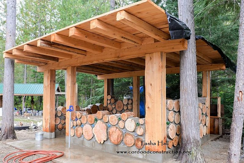 Cordwood Chicken Coops