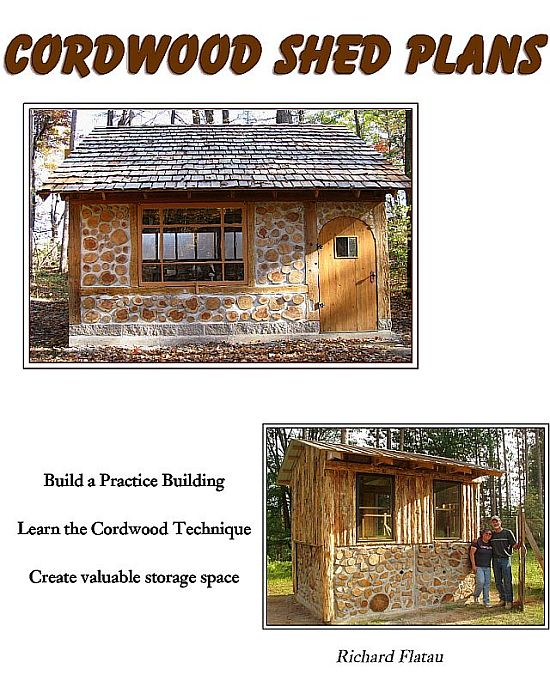 Cordwood Shed Plans 640 x 786 550