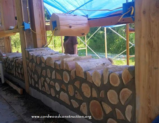 Tiny Cordwood Home