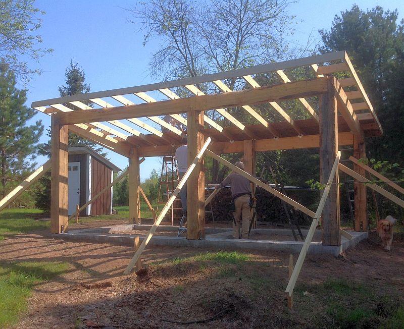 Cordwood Construction Sauna in Wisconsin