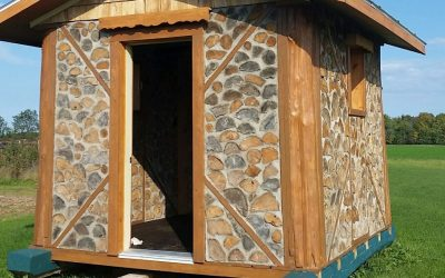 Cordwood Cabin on Skis