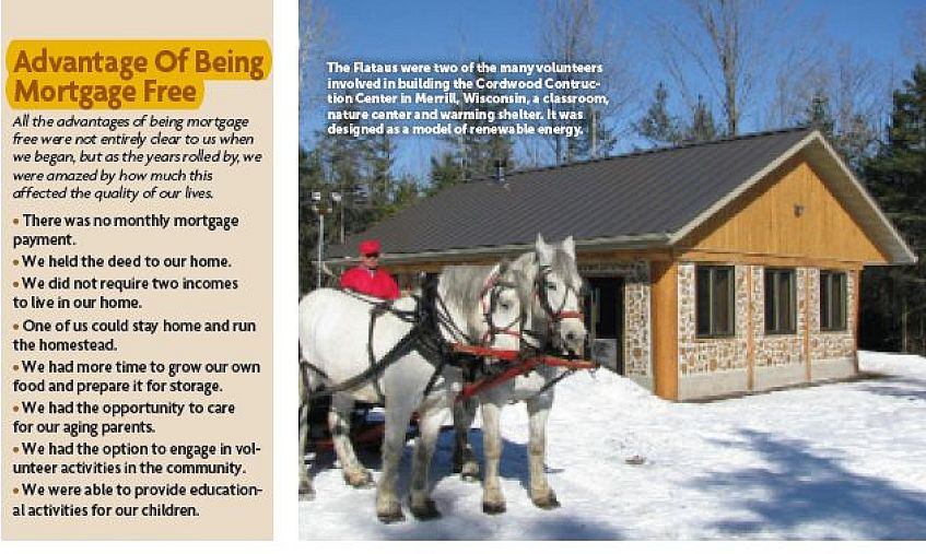 Cordwood Cottages DIY article in New Pioneer Magazine