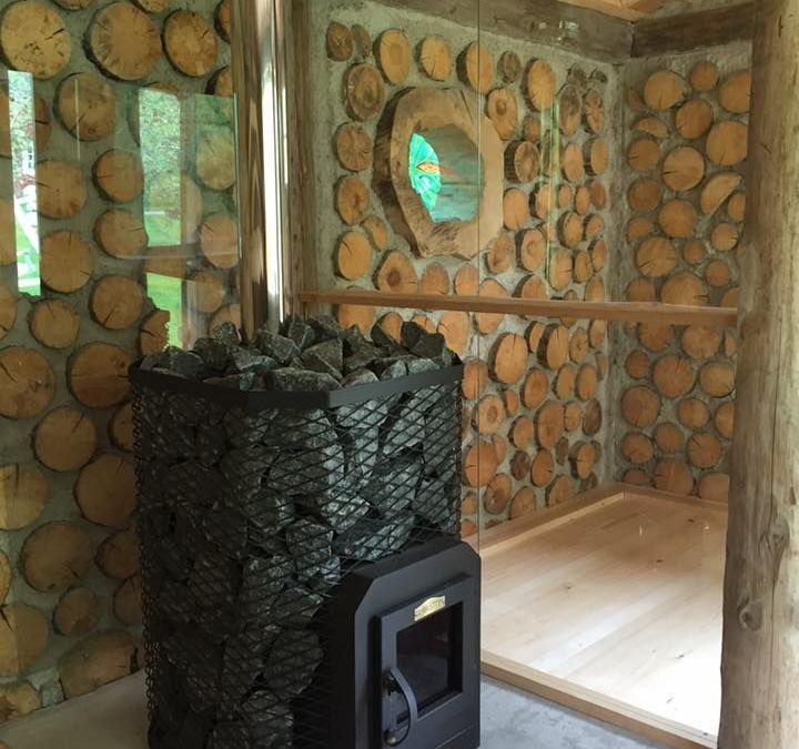 Cordwood Sauna in Sweden (Part 2)