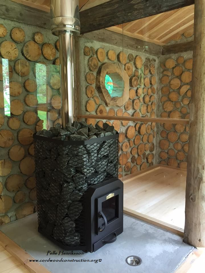 Cordwood Sauna In Sweden Part 2 Cordwood Construction
