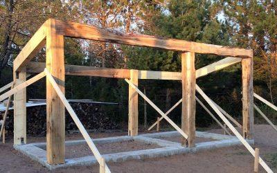Cordwood Sauna: Grade Beam