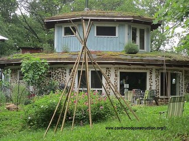 Cordwood home near Asheville, North Carolina