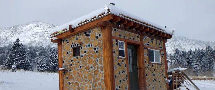 Tiny Cordwood Cabin in Colorado