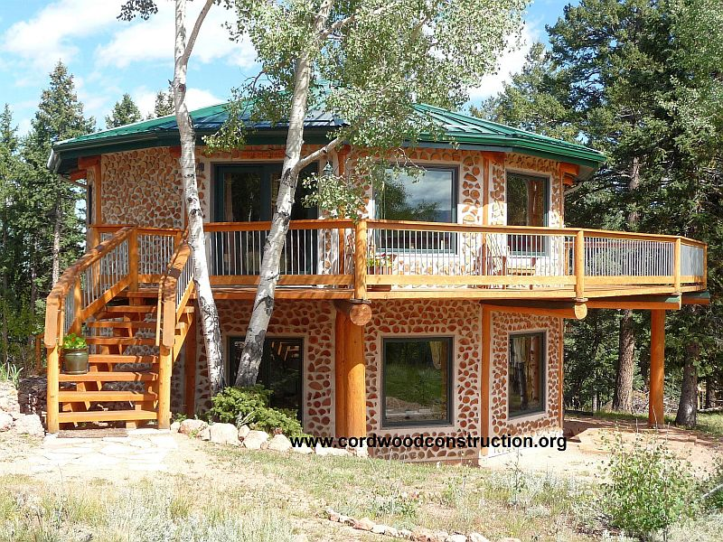 Cordwood Construction in Colorado by Bryan & Lois