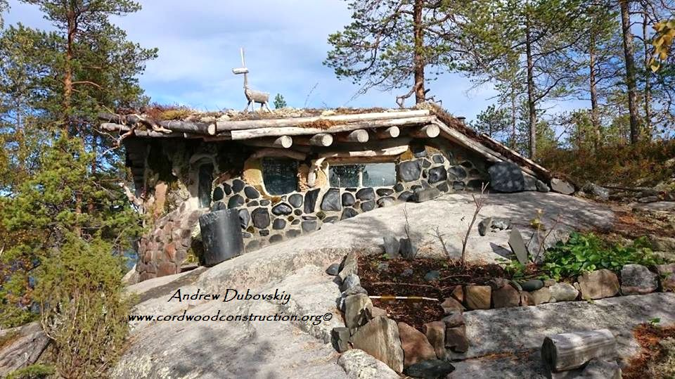 Cordwood Survival Cabin in Russia
