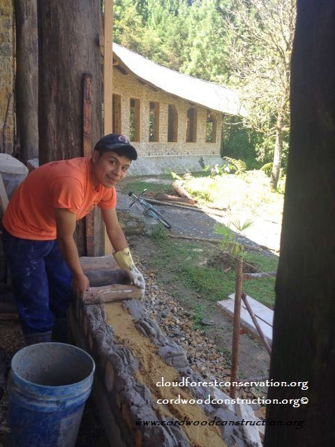 Cordwood classroom houses Cloud Forest Conservation in Guatemala