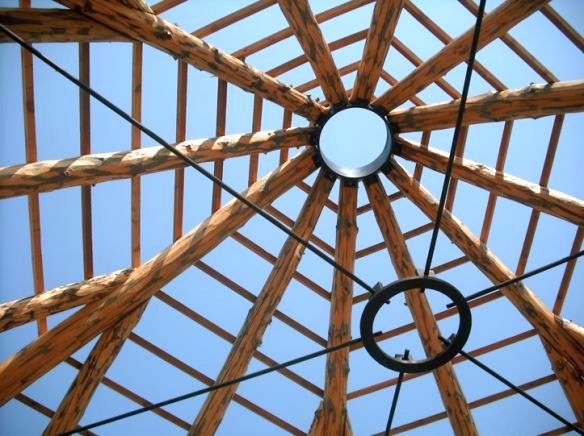 Kinstone 20 Tension ring and circular metal roof bracket makes for a strong system.jpg