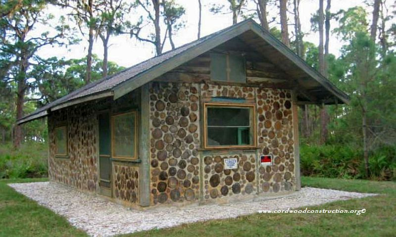Florida cordwood from Linda Stevenson Here is a great little historic cordwood building in Florida dating from the late 30s. It has been relocated to a park in Charlotte County Florida..jpg