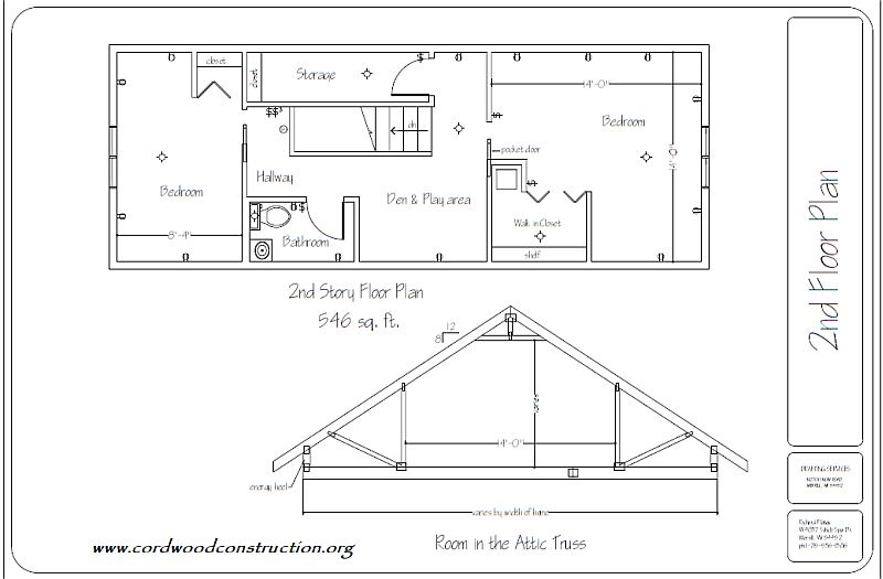 Truss room in the attic small pixels