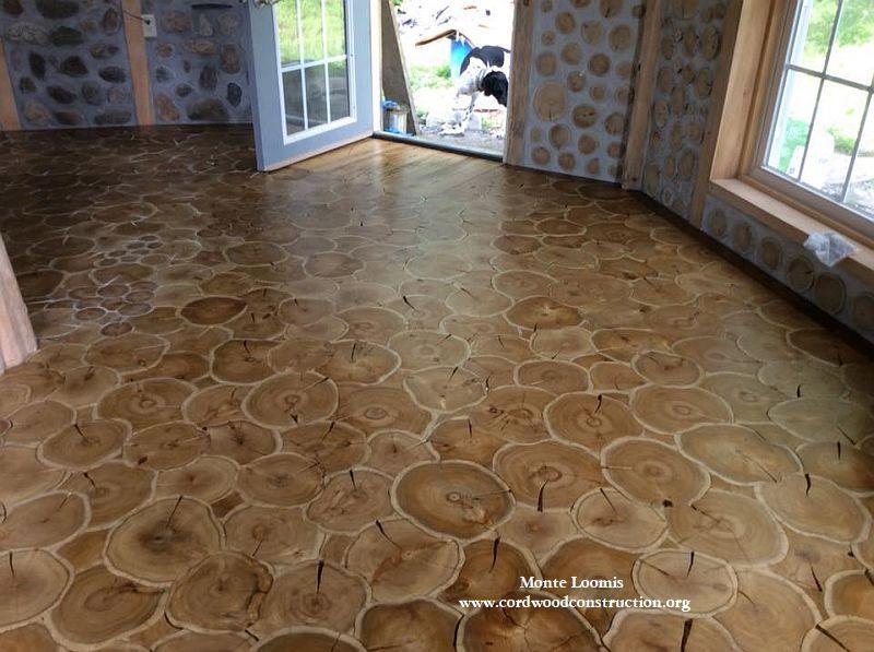 Cordwood Flooring Jig Saw Puzzle Method Cordwood