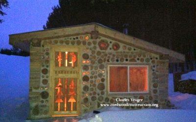 Cordwood Timber Framed Sauna in Michigan