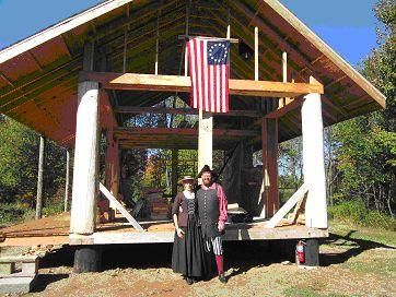 Cordwood Cabin on Stilts