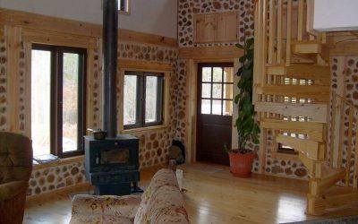 Take a Peek Inside a Cordwood Home