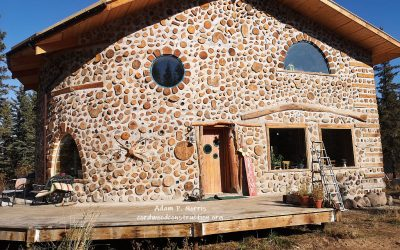 Fantastic Cordwood Stackwall in Alberta, Canada