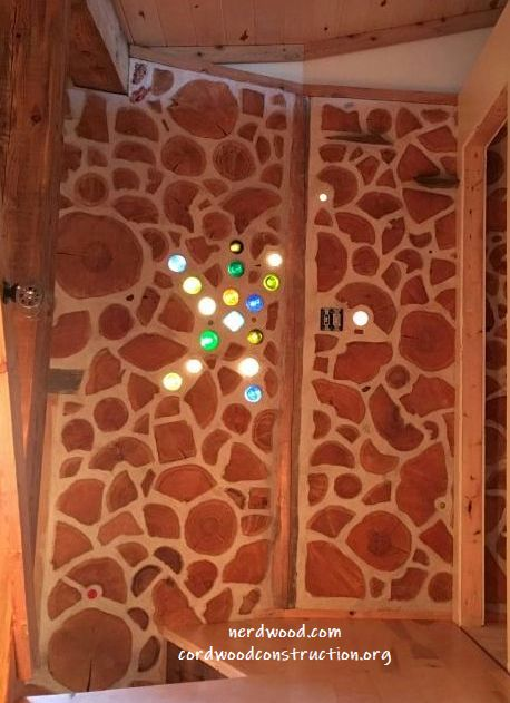 How to build Good Looking Cordwood Walls