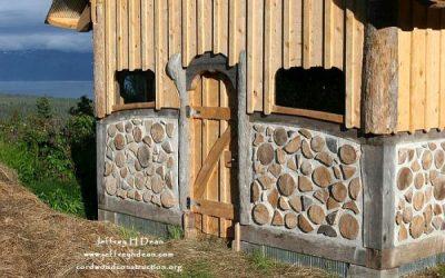 Cordwood Yak & Yow Barn in Alaska