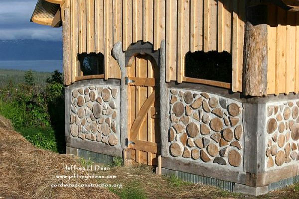 Cordwood Yak & Yow Barn in Alaska