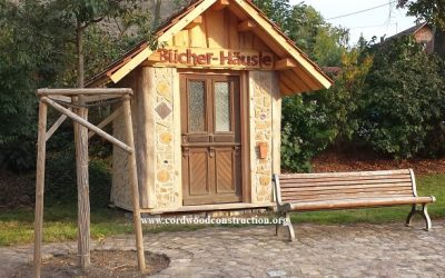 Cordwood Book House in Rottweil, Germany