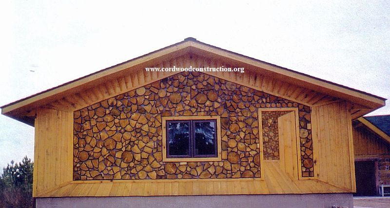 Cordwood Siding DIY