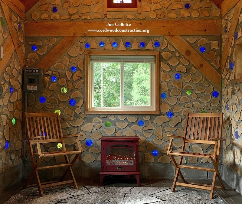 Backyard Cordwood Cabin in Duluth, MN with sauna